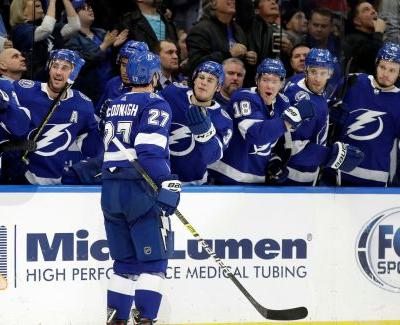 Stamkos has 3 goals, Lightning beat Rangers 6-3
