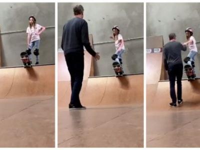 Tony Hawk Captures The Awesome Moment His Daughter Overcame Her Fear
