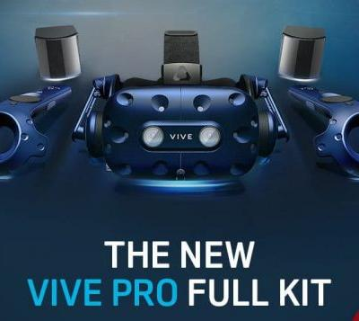 HTC VIVE Pro Full VR Kit Unveiled Steam VR 2.0 Base Stations And Pro Controllers For $1,700