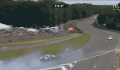 Watch Le Mans Driver Jeroen Bleekemolen Cruise Through A Gravel Trap Like It's Asphalt