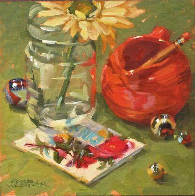 Patty's Pitcher -a still life in oil