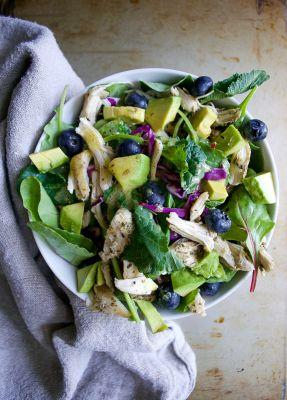 Mixed Greens Avocado Blueberry Chicken Salad