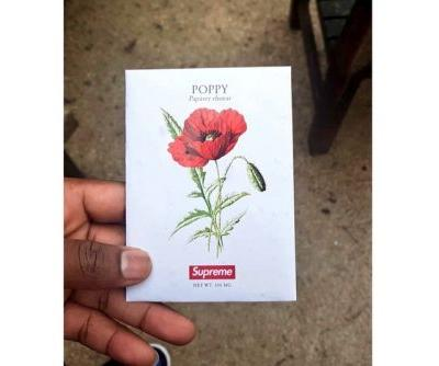 Supreme Gave out Free Poppy Seed Packs During Its First Drop