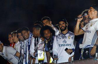 Watch Cristiano Ronaldo and Real Madrid sing after La Liga win, take shots at Barcelona
