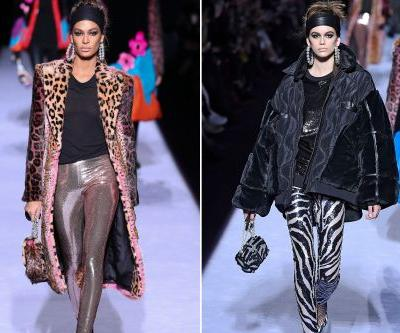 Joan Smalls, Kaia Gerber rock wild prints in Tom Ford show