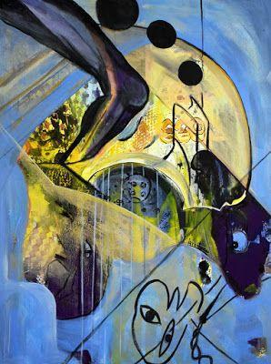 """Abstract Painting, Contemporary Art """"Amerika 1"""" by International Contemporary Abstract Artist Arrachme"""