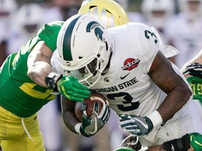 Michigan State football RB LJ Scott to miss Senior Bowl