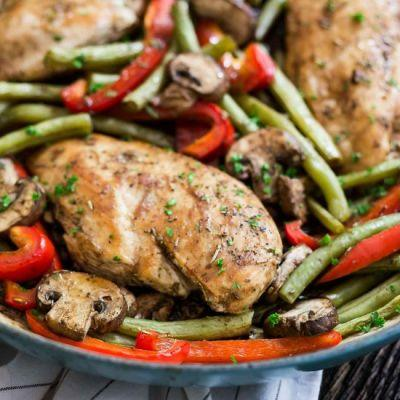 One Pot Balsamic Chicken Skillet