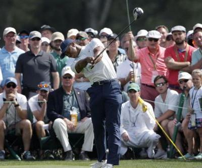 Masters 2019: Tiger Woods one shot behind five leaders after second round