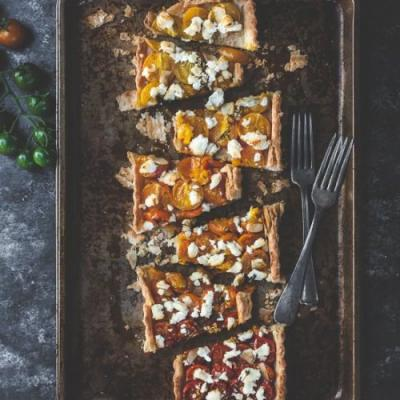 Sunrise Cherry Tomato Tart