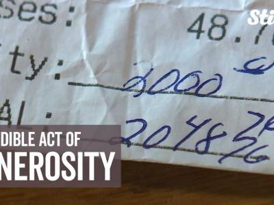 Couple stuns restaurant staff by leaving $2,000 tip