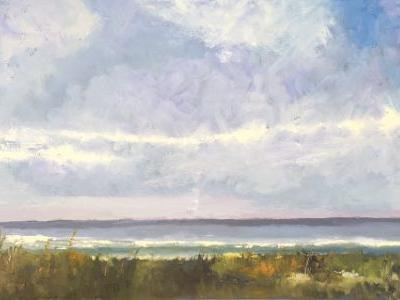 """Land, Sea, and Sky Painting, """"Beach Day 7,"""" by Amy Whitehouse"""