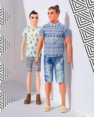 The new Ken doll has a man bun