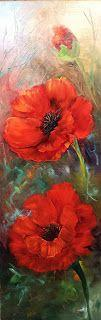 Red Poppies,oils on linen,Barbara Haviland,Texas Floral Artist