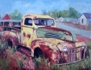Painted Ford, New Contemporary Painting by Sheri Jones