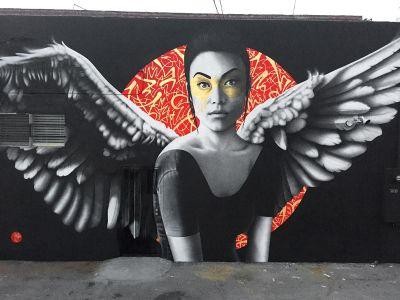 """""""Resurrection of Angels Part 2"""" by Fin DAC in Los Angeles"""