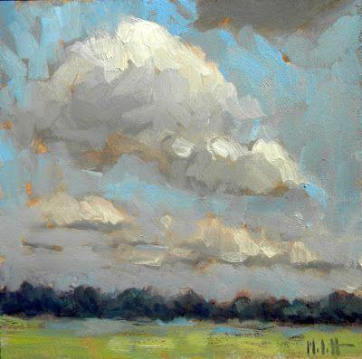 Landscape Impressionism After the Rain Oil Painting