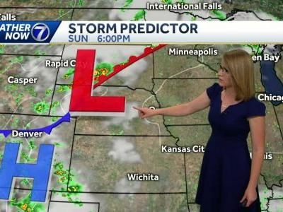 Hot and muggy Saturday, with a slight chance for pop-up storms