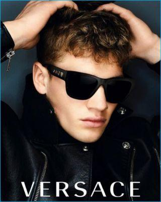 Matty Carrington Rocks Versace Square Sunglasses for Fall Campaign