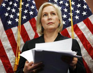 The Latest: Gillibrand labels Trump tweet a 'sexual smear'