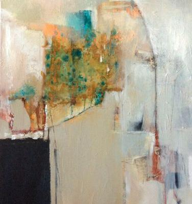 """Contemporary Abstract Acrylic Painting """"Rebirth"""" by Intuitive Artist Joan Fullerton"""
