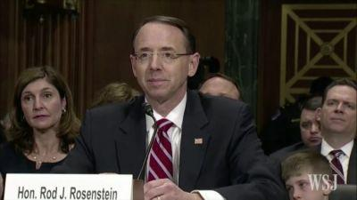 Rosenstein Knew Trump Was Going to Fire Comey Before He Wrote His Memo