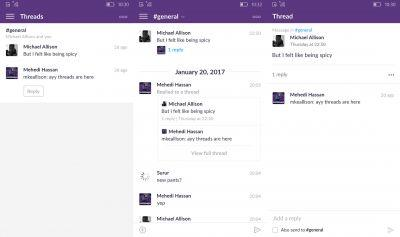 Slack gets support for Threaded Messages on Windows Phone