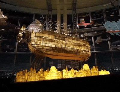 Crossconnectmag: A Giant Illuminated 'Castle in the Sky' Ship