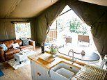 Inside the new adults-only glamping site in Wales