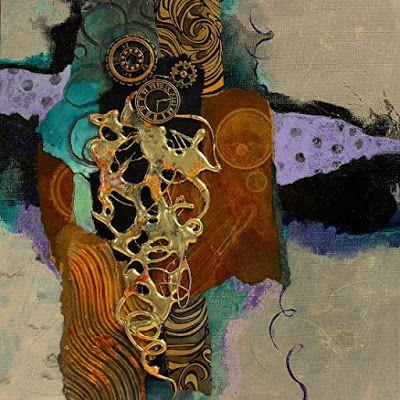 """Abstract Mixed Media Painting """"Raleigh Demo"""" by Colorado Mixed Media Abstract Artist Carol Nelson"""