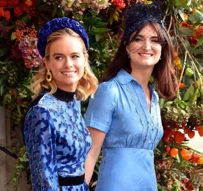 Prince Harry's ex-girlfriend Cressida Bonas attended Princess Eugenie's wedding in a blue velvet dress that looks a lot like one Kate Middleton wore