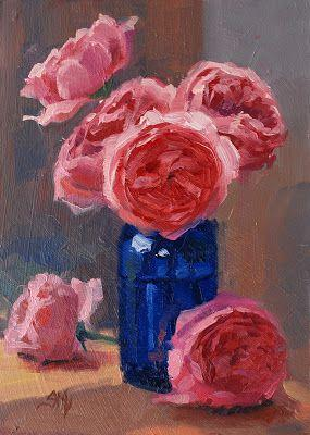 No. 758 Shropshire Lad with Blue Vase - The Warm Version