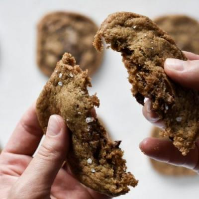 Brown Butter Rye Chocolate Cookies