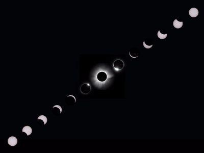 The total solar eclipse has 10 distinct phases - here's what they look like