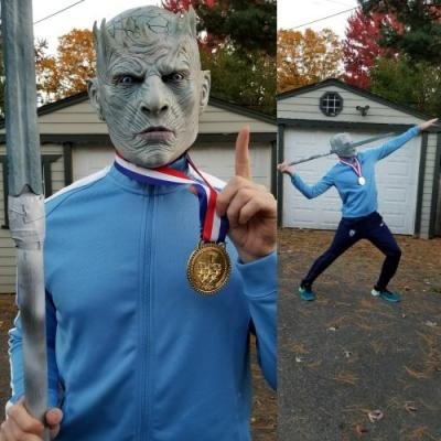 This Guy Just Won Halloween With His Olympics Night King Costume