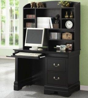 19 Beautiful Black Desk with Hutch Pics