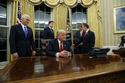 On his first day in office, Trump broke 34 promises