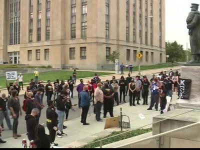 Group protests outside KCPD headquarters over Breonna Taylor case
