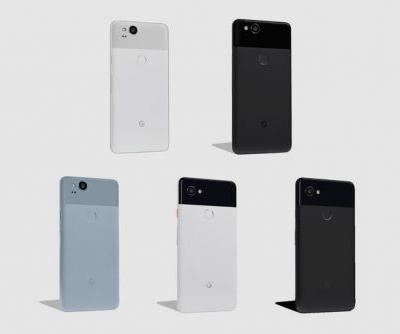 This is what Google's Pixel 2 and Pixel 2 XL phones look like and cost