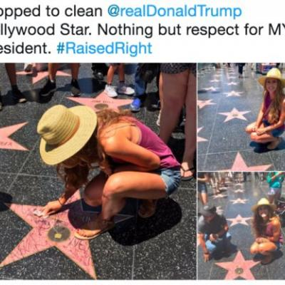 Nothing but disrespect for MY president: West Hollywood Council wants Trump's Walk of Fame star gone