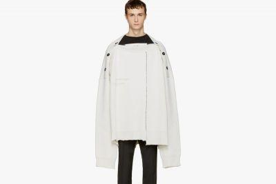 Raf Simons Keeps It Oversized With This White Sweater