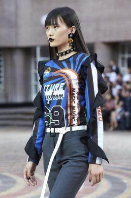 Kenzo closes Men's Fashion week in Paris with bungee jumpers and an all-Asian cast for SS18