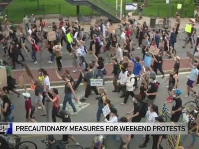 Precautions in place as city, suburbs prepare for weekend protests, rallies