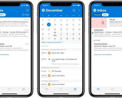 Outlook for iOS Gains New Design and Improved Haptic Feedback