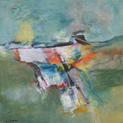 """Expressionism, Contemporary Art, Mixed Media Abstract Landscape Painting, """"Sacred Ground"""" by Contemporary Artist Tracy Lupanow"""