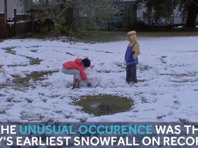 Snow comes to the Lone Star state