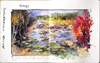 Journal Entry, Texas 2..Watercolor..Texas Artist..Rae Andrews