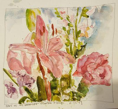 Still Life - Flowers in Watercolor