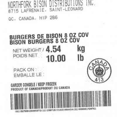 Bison Burgers & Bison Ground Recalled because of Possible Health Risk