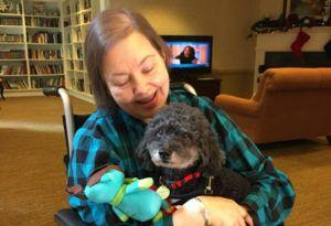 Homeless Senior Poodle Becomes The Perfect Resident Canine At Senior Living Facility